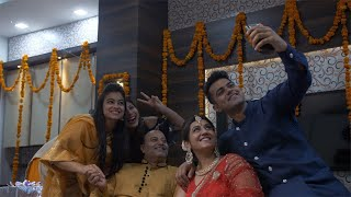 Diwali Festival Celebration - Happy Indian family taking selfie at home