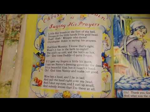"""Vespers"", also known as ""Christopher Robin is Saying His Prayers"" by A.A. Milne"