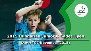 2015 Hungarian Junior & Cadet Open - Day 4