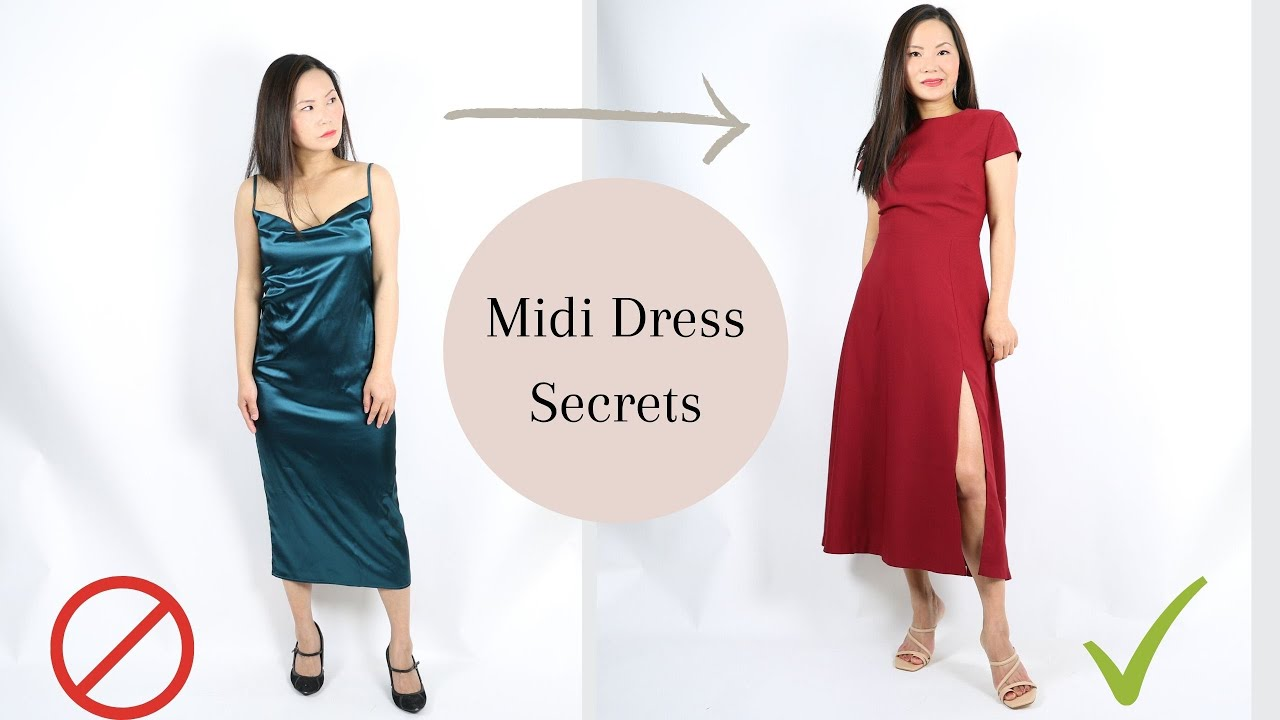 How to wear midi dresses if you have short legs