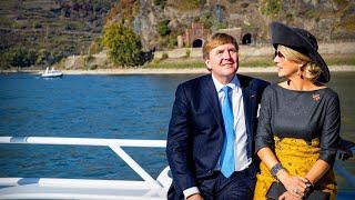 Koning Willem-Alexander en koningin Máxima maken een reisje langs de Rijn