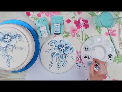 How To Paint A Flower Design On Sugar Using Edible Cake Paints