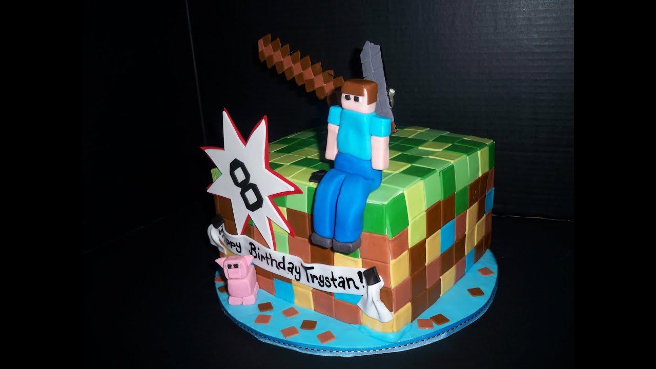 Minecraft Fondant Cake Toppers
