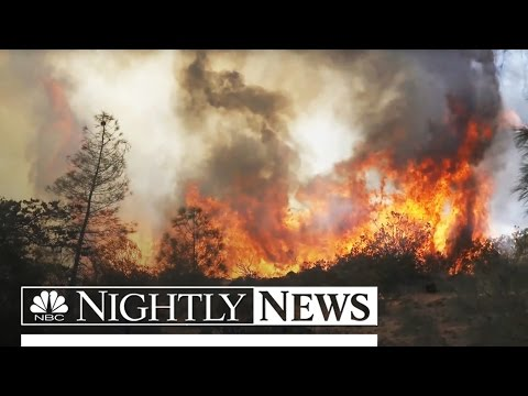 Idaho 'Firenado' Shoots 100 Feet Into Air | NBC Nightly News