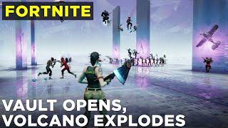 Fortnite Loot Lake event and volcano eruption (FULL gameplay, no commentary)
