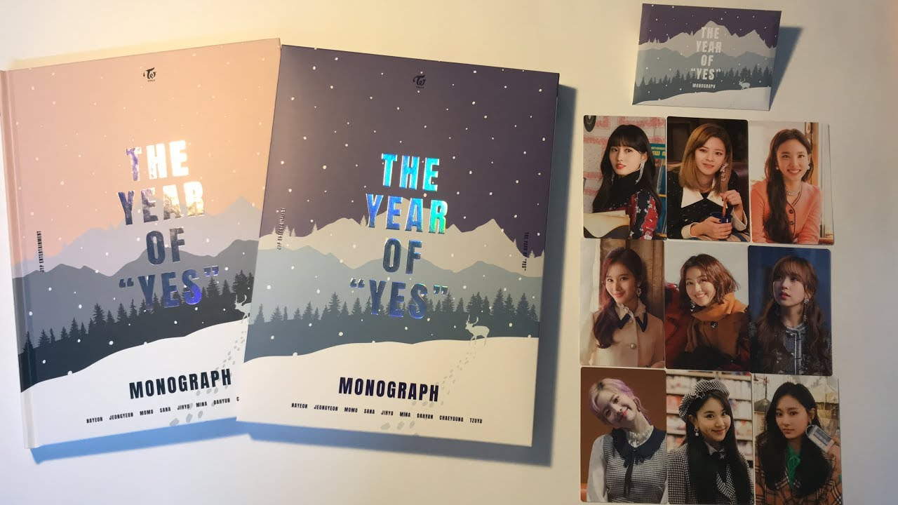 unboxing TWICE MONOGRAPH - THE YEAR OF YES - YouTube