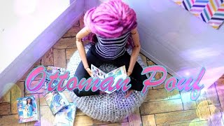 How to Make a Doll Ottoman Pouf - EASY DOLL CRAFTS