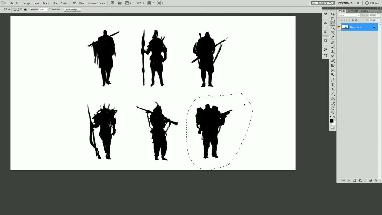 Character Design Concept Art Tutorial : Pene menn concept art character thumbnail tutorial