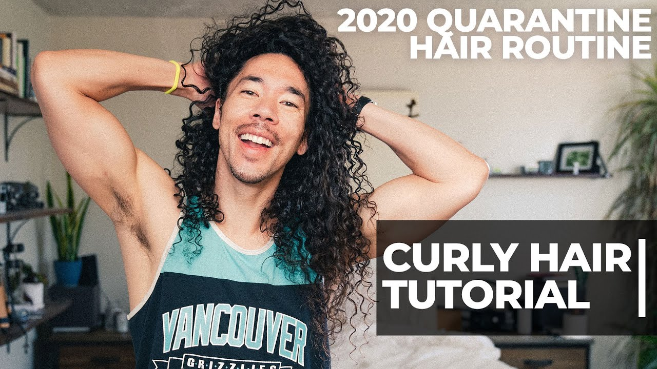 Curl Hair Tutorial | Quarantine Hair Routine 2020
