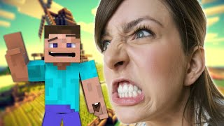 angry girl flips out on minecraft teamspeak server
