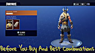 Fortnite *New Skin* Magnus Best Combinations With BackBlings Before You Buy