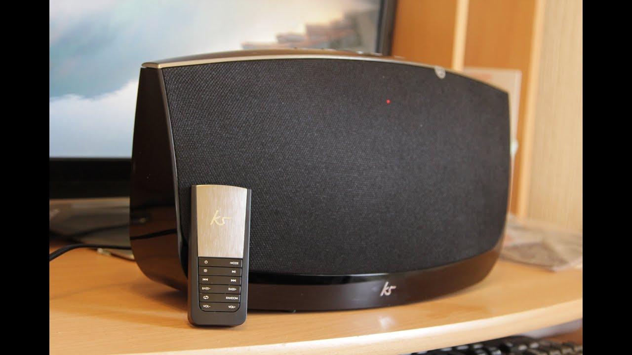 kitsound evoke 2 1 wireless sound system youtube. Black Bedroom Furniture Sets. Home Design Ideas