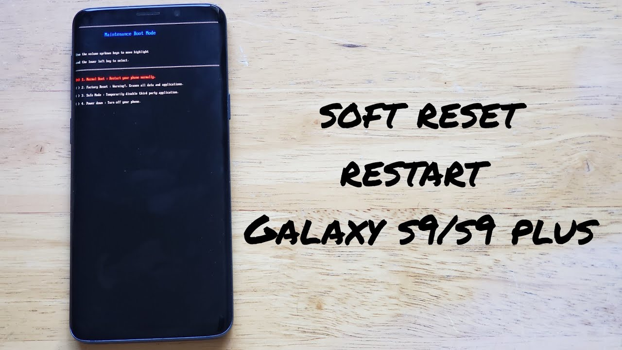 How to soft reset / restart Samsung Galaxy s19