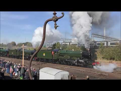 Tyseley's 50th anniversary open day ,with 45596 Bahamas, back in steam. 29th September 2018