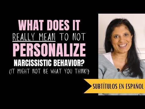 Not personalizing a narcissist's behavior vs. not taking it personally