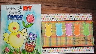 SPECTRUM AQUA MARKERS - EASTER CARDS  FOR BEGINNERS - SSS EASTER CARD KIT 2016