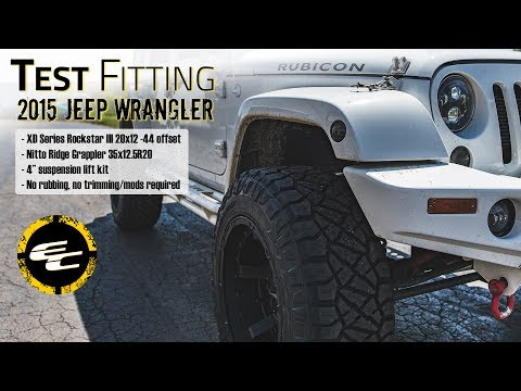 Test Fitting - Lifted 2015 Jeep Wrangler w/ 20