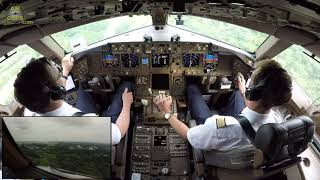 MAGIC Japan! Lufthansa Cargo B777F Narita Cockpit Landing by F/O Sebastian! [AirClips]