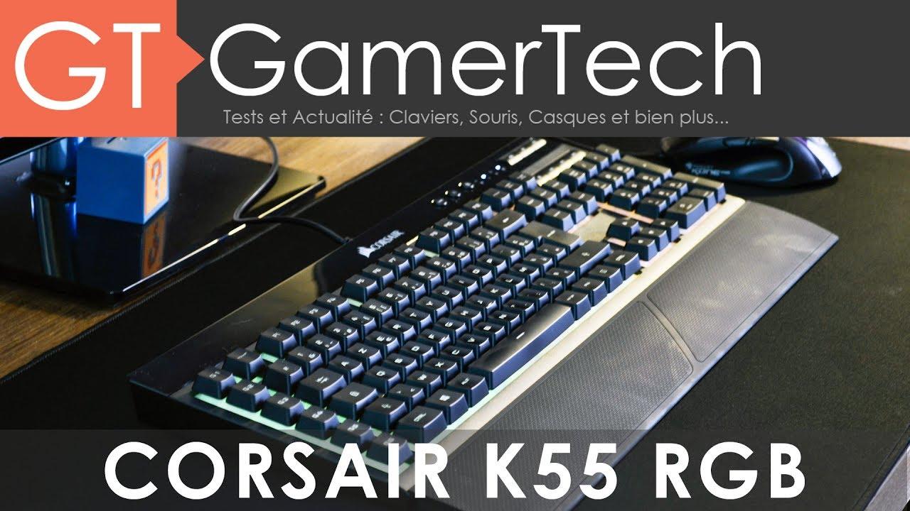 corsair k55 rgb unboxing test fr un clavier gamer moins de 60 youtube. Black Bedroom Furniture Sets. Home Design Ideas