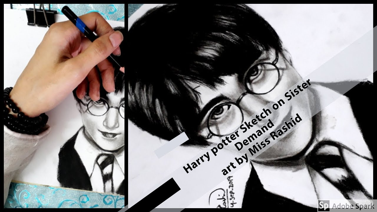 Harry Potter Sketch on Sister Demand named Aashi Rashid art
