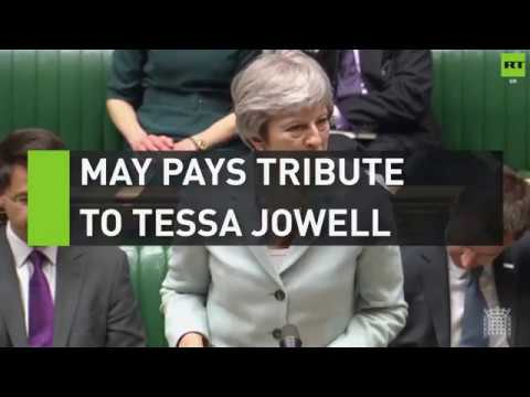 May pays tribute to Tessa Jowell and her 'David Beckham moment'