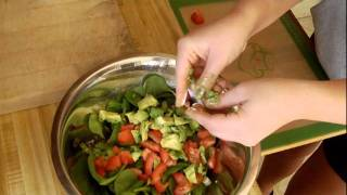 Cooking With Carly: Spinach W/ Avocado Salad