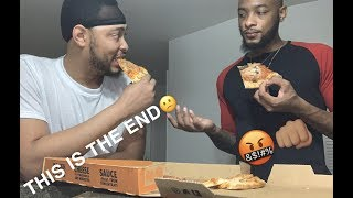 OUR CHANNEL IS GETTING DELETED....😔 + KYRE GOT JUMPED !! LITTLE CAESARS PIZZA MUKBANG