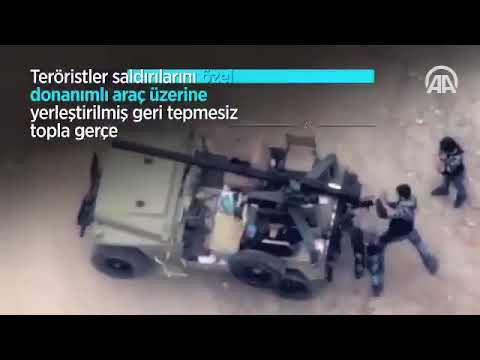 Afrinde ypg/pkk'lı teröristler böyle vuruldu. İHA destekli hava harekatı.