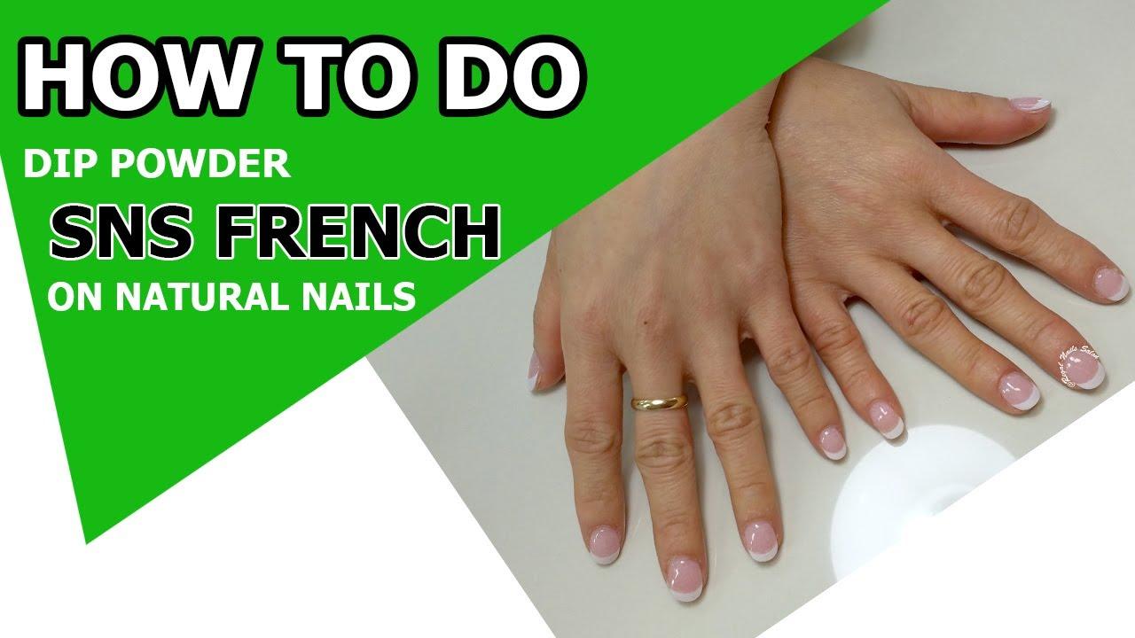 Sns French On Natural Nails Sns Nails Dipping Powder Regal