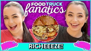 MACARONI GRILLED CHEESE CHALLENGE?! Food Truck Fanatics w/ Merrell Twins
