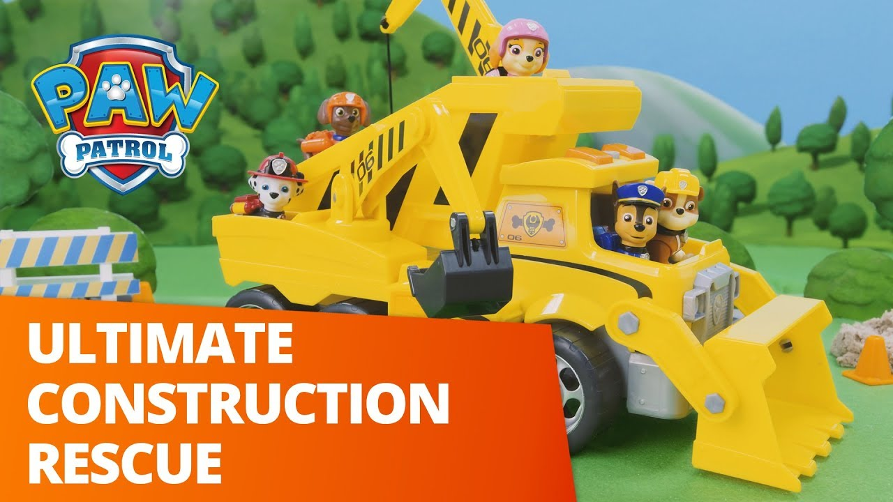 Paw Patrol Ultimate Rescue Construction Truck Lights Sounds Toy New