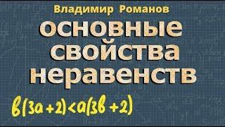 алгебра ОСНОВНЫЕ СВОЙСТВА числовых НЕРАВЕНСТВ 8 и 9 класс