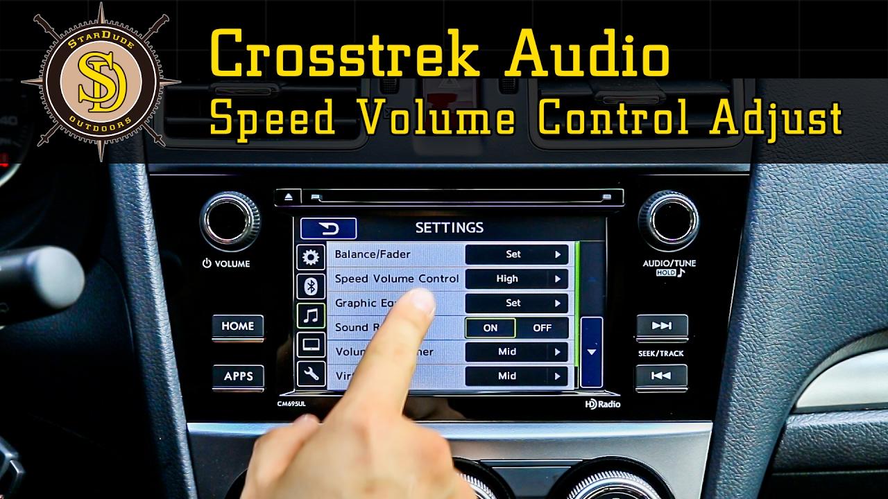 Subaru Crosstrek - How To Shut Off Speed Volume Control