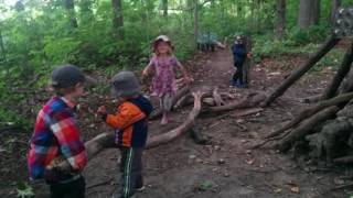 Shelter Building in Forest School