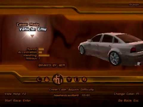 All 31 of the Midnight Club II Vehicles (with stats).