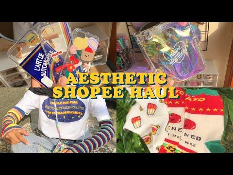 Aesthetic  Shopee Haul ♡´・ᴗ・`♡ | Indonesia