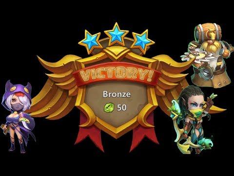 Castle Clash - Squad Showdown (3 Hero Mode) F2P 3/3 Win