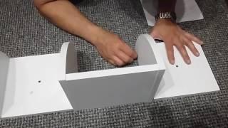 Finether 5-Tier Zig Zag Floating Wall Corner Shelf