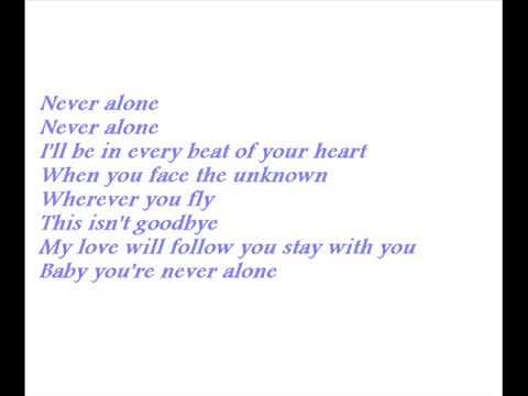Karaoke - Never Alone - Jim Brickman (ft. Lady Antebellum or Sara Evans)