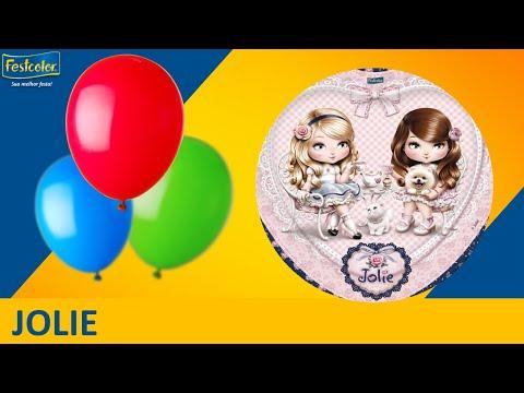 Jolie - Sugestão de Decoração de Festa - Tema Jolie