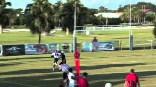 Amazing youth football quarterback Kole Stealy - Davie Broncos 135 lb. team