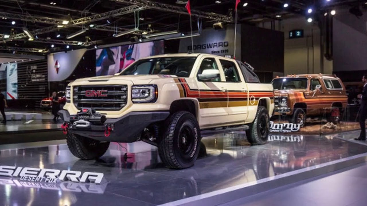 hot news gmc desert fox sierra concept truck is a retro off roader [ 1280 x 720 Pixel ]
