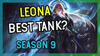 BEST TANK SUPPORT LEONA SEASON 9 - League of Legends