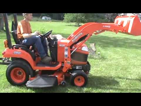 2009 Kubota Bx1860 Compact Tractor Loader Belly Mower For