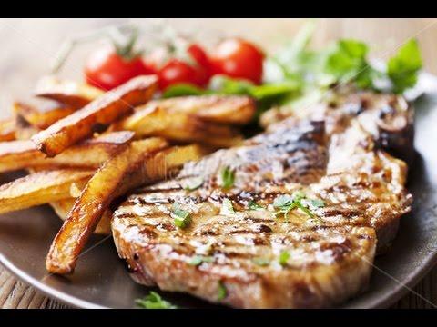 Стейк из свинины с соусом рецепт - Pork steak