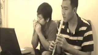 Harmonica lời thiên thu gọi cover by vv& q2t