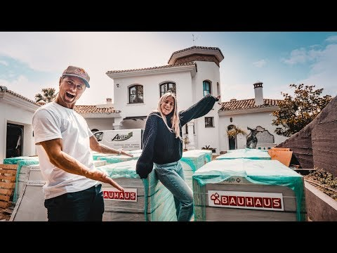 A 17 TON DELIVERY IN MARBELLA!!! House renovation has started!   VLOG² 153