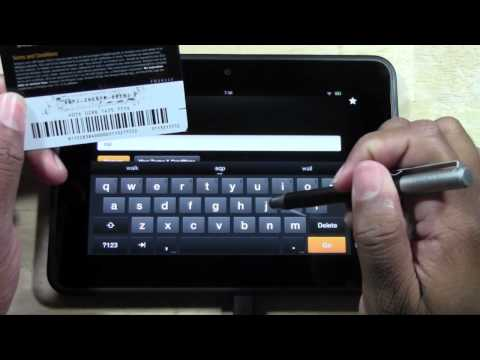 Kindle Fire HD - How to Redeem an Amazon (Kindle) Gift Card​​​ | H2TechVideos​​​