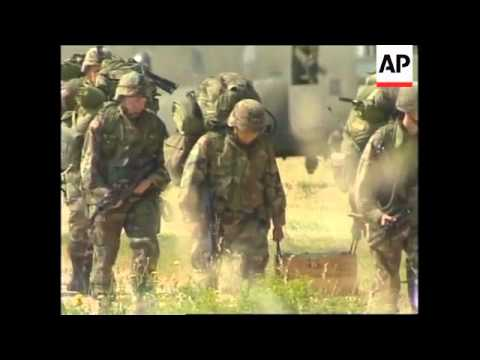 MACEDONIA: NATO TROOPS PREPARE TO ENTER KOSOVO