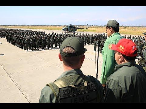 Maduro participa en ejercicios militares en Aragua, 29 enero 2019